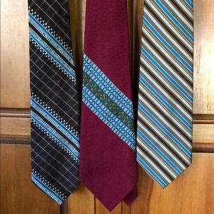 Set of Vintage Wide Tab Ties